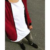 jacket,maniere de voir,bomber jacket,deep,red,suede,suedette,36683