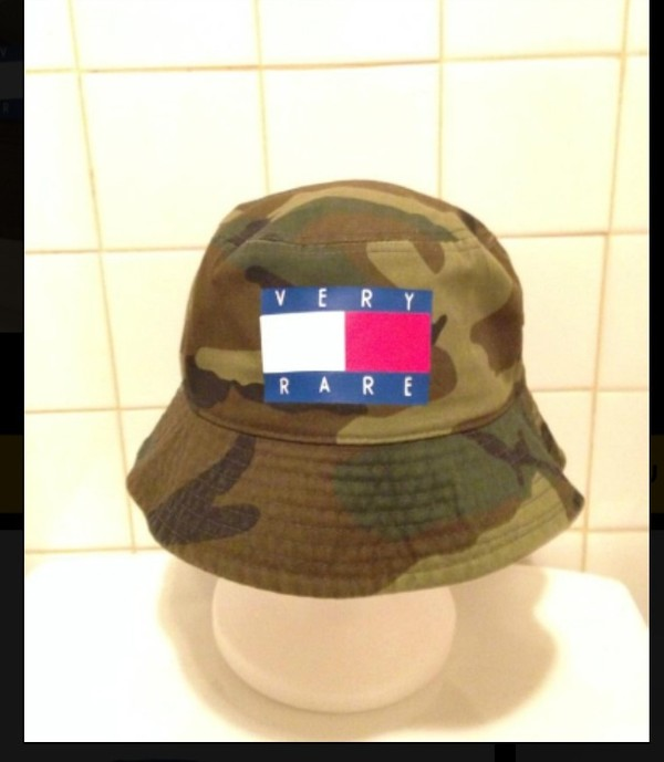 hat very rare camouflage rare bucket hat camouflage tommy hilfiger