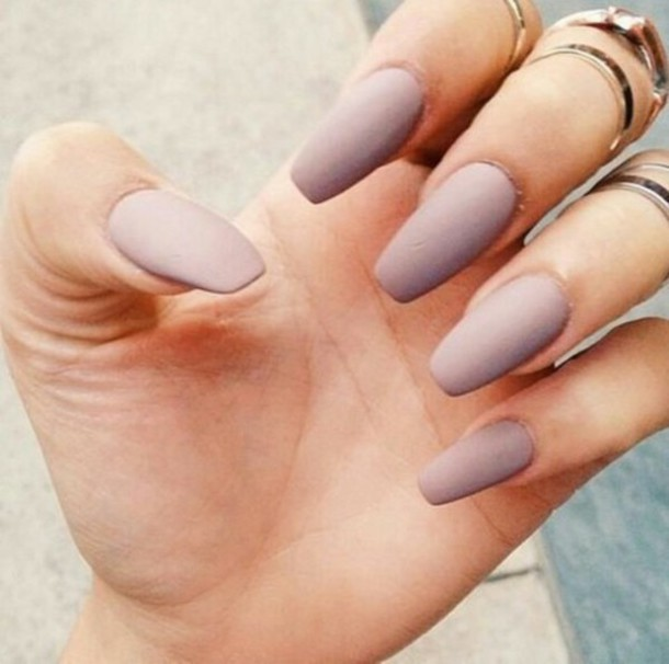 nail polish nude purple nails