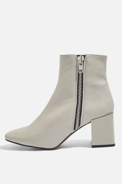 Topshop ankle boots grey shoes