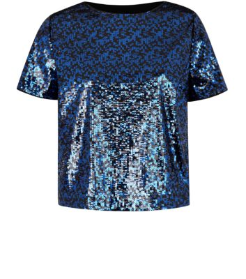 Navy Sequin T-Shirt