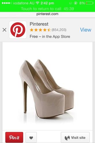 shoes nude nude high heels platform shoes platform high heels shiny high heels heels cream high heels cream