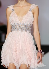 light pink,dress