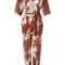 Andrea marques - printed jumpsuit - women - cotton - 42, cotton