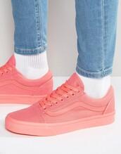 shoes,vans,low top sneakers,pink sneakers