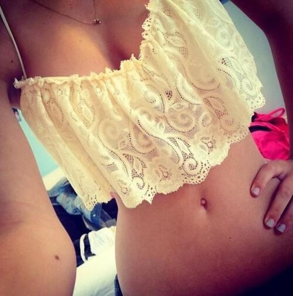 swimwear lace bikini top
