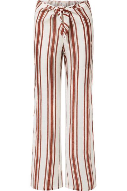 pants wide-leg pants brown