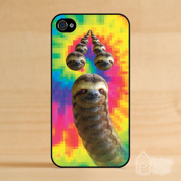rainbow tye dye t-shirt sloth sloths tie dye tie die tye die trippy cute colorful iphone 4 cases iphone 4s cases iphone cases iphone 5 iphone 5 cases iphone 5s cases dope iphone 5c cases iphone 5c galaxy note 3 cases galaxy note projectmajor.com projectmajor project major kush dro