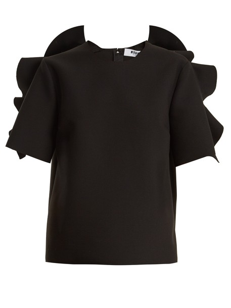 MSGM top ruffle black