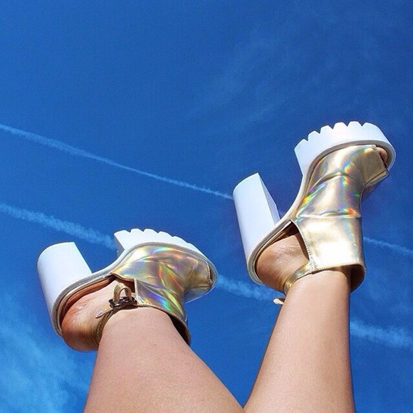 shoes metallic shoes summer shoes style girly outfits tumblr