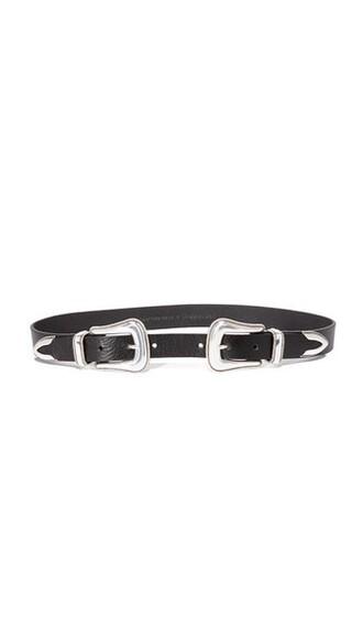 belt silver black