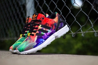 shoes adidas shoes adidas zx flux colorful