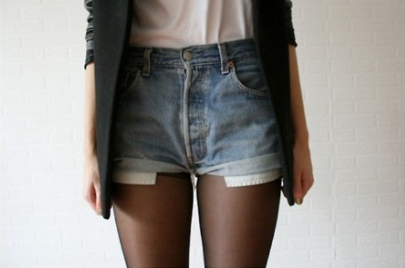 shorts girly fashion tumblr black chic elegant white indie hipster blue vintage blazer tumblr girl High waisted shorts high-waisted shorts demin