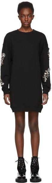 McQ Alexander McQueen dress sweatshirt dress black