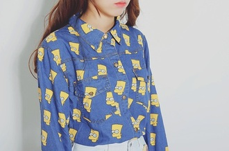 blouse cute bart simpson