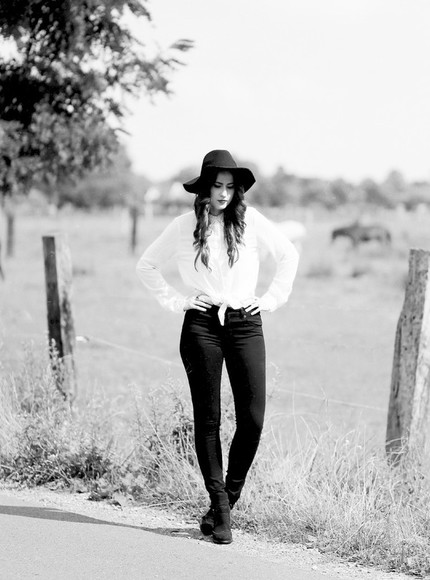 jeans black jeans shoes blouse blogger like a riot asos hat fall outfits boho