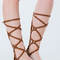 Crosswalk strappy gladiator sandals cream black tan - gojane.com