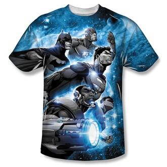 t-shirt teehunter justice league superman batman the flash cyborg comic shirt comics