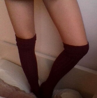 socks high socks marroon