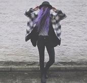 coat,plaid,flannel jacket,shirt,jeans