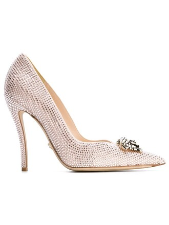 pumps metallic shoes