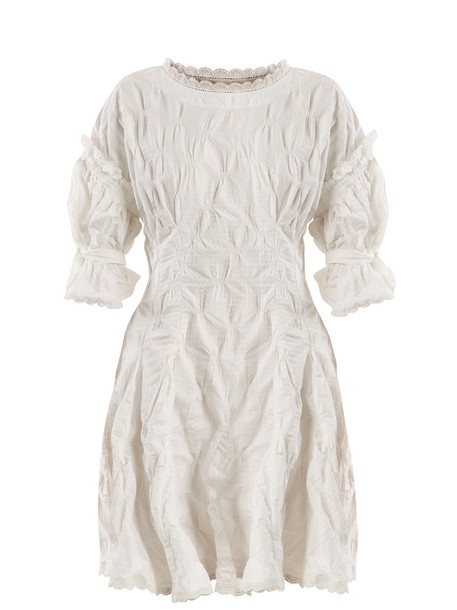 Jonathan Simkhai dress jacquard lace gingham white