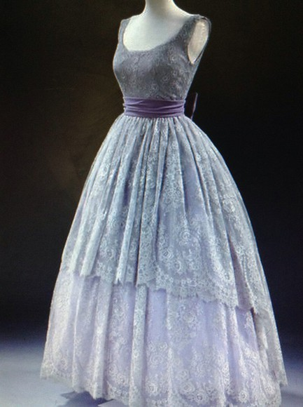 evening dress vintage purple 1950's