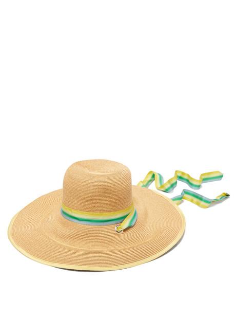 hat straw hat green