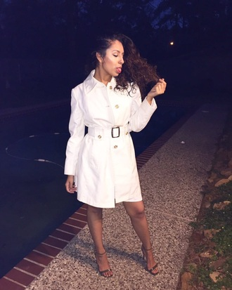coat dress dope trench coat heels white white dress tumblr