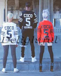 Online Shop Sweater Top Black Loose Sweatshirt Hoodies Pvtstk Homme Femme CC Coco NO.5 Digital Fake Fleece Side Zipper Street Dance XXL|Aliexpress Mobile