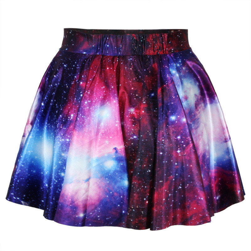 Printed galaxy skirt ad813gc