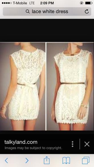 dress white dress lace dress lace wedding dresses clothes classy dress chic