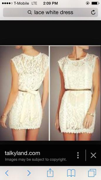 dress white dress lace dress lace wedding dress clothes classy dress chic