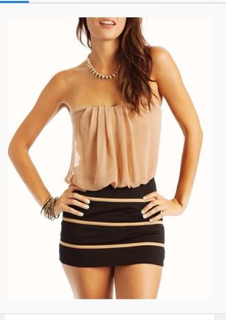 shirt cream color spring outfits skirt