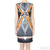 Clover Canyon Multicolor Accordian Print V-Back Sleeveless Neoprene Dress / TheFashionMRKT