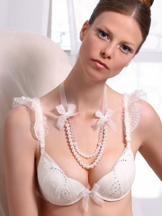Exquisite lace push up bra
