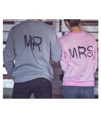 sweater girl girly girly wishlist sweatshirt grey pink matching set couple sweaters mr and mrs sweatshirts