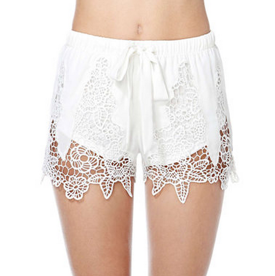 Summer fashion hollow decoration pretty elegant shorts HY-141406242-Lovelyshoes.net