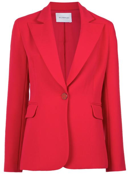 Olympiah blazer women classic spandex red jacket