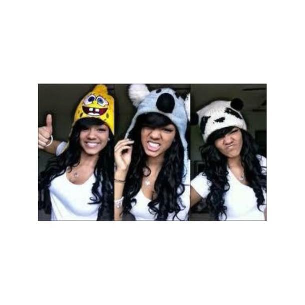 hat bob girl beanie bonnet panda koala