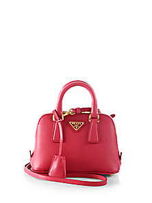 Saffiano lux double handle mini satchel