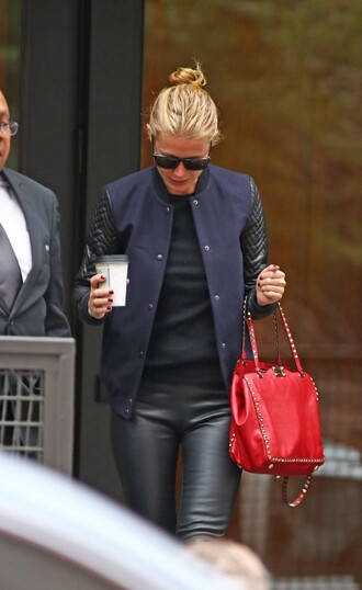 jacket bag top sunglasses fall outfits gwyneth paltrow pants