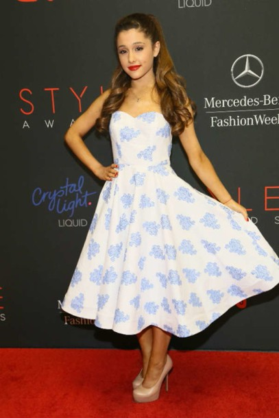 ariana grande floral dress dress