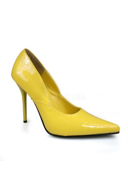 Yellow pointed closed toe pump heels patent