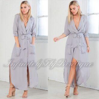 dress maxi dress casual dress long dress dress with pockets