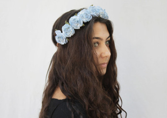 hippie festival hippie chic flower crown festivalfashion burning man day of the dead halloween flower hair accessories hairstyles ootd