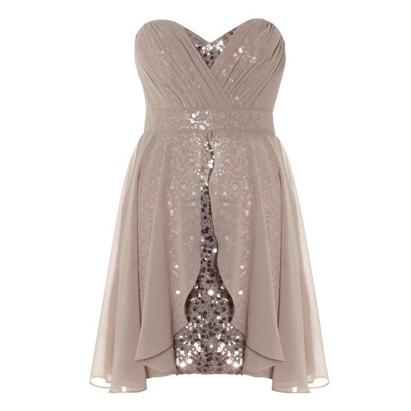 Lipsy Bandeau Layer Sequin Dress - Polyvore