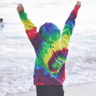sweater tie dye sweater tie dye colorful colourful sweater hippie