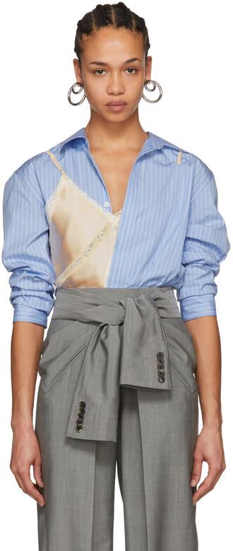 bodysuit camisole blue pink underwear