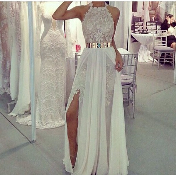 white dress wedding dress
